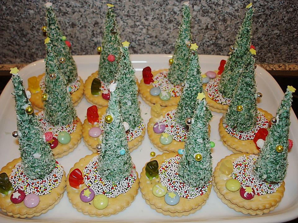 Essbare Weihnachtsbäumchen   ichliebebacken.de